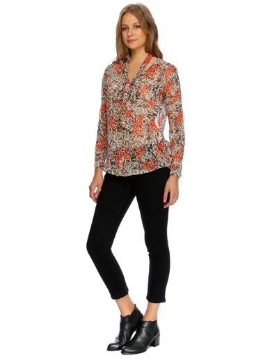 Beymen Studio Yakası Bağlamalı Çiçekli Bluz Renkli